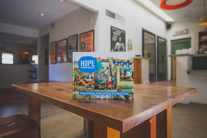 Our 1st HOPE Art Book (2014), available at Hotel San Jose in Austin, TX