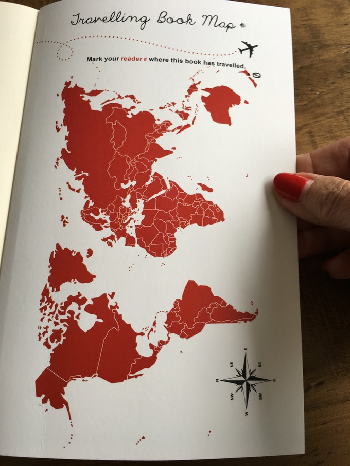 Each reader places a dot on the travel map...
