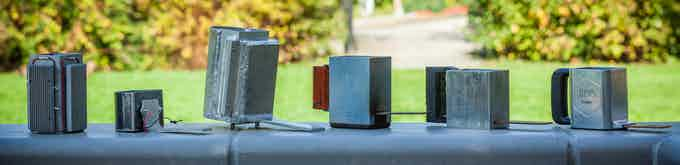 The Spark prototypes over time.