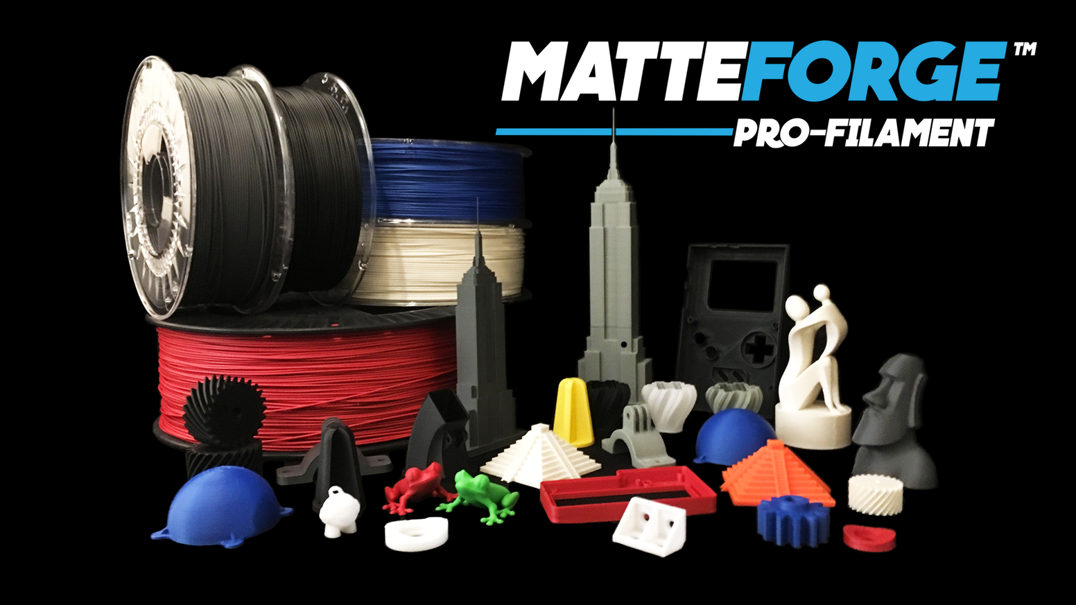 Unique Matte finish, 3D print filament that reduces the visibility of layer lines. High impact resistance and good flexural strength.