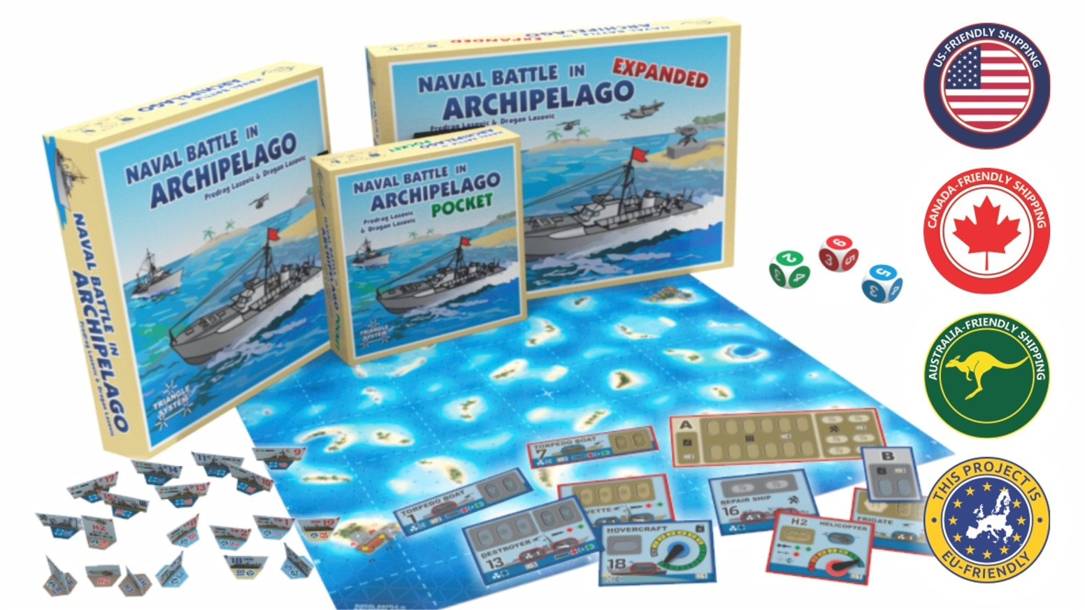 A realistic tactical simulation of naval combat in the 1970s, for two players.