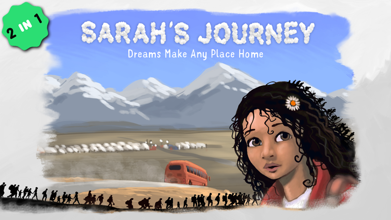 Sarah, the displaced hero, will empower your child to deal with hardships & will give displaced children hope and inspiration. GET&GIVE