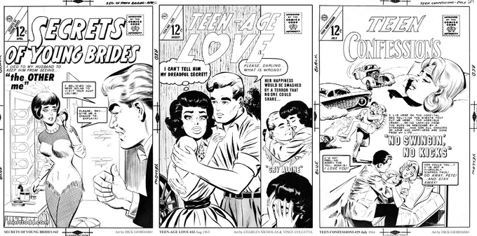 Sample Covers from TEEN-AGE LOVE CONFESSIONS Volume Two