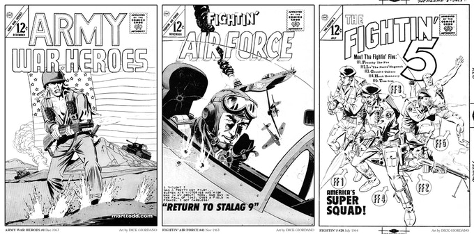 Sample Covers from FIGHTIN' WAR HEROES Volume One