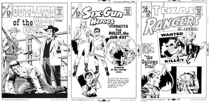 Sample Covers from OUTLAWS OF THE WILD WEST Volume Two