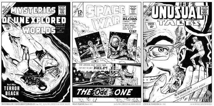 Sample Covers from STRANGE SPACE MYSTERIES #1