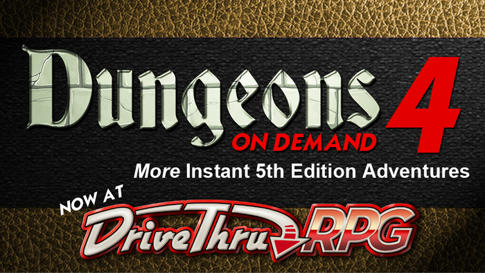 Dungeons, dragons, and more await in these pre-made adventures for your 5th edition campaign. $5 or less each & a FREE dungeon inside!