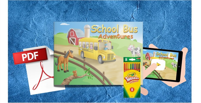 Softcover Book with Coloring + Crayons