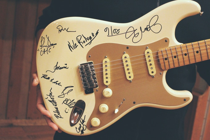 Signed Guitar by Nile Rodgers & CHIC