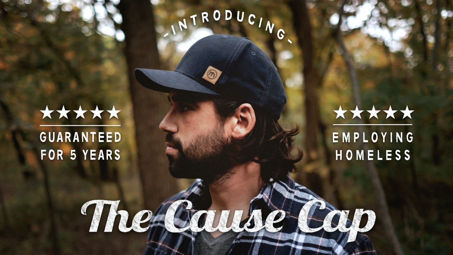 This American made cap helps employ transitioning homeless & is guaranteed for 5 years. It's the best made cap with the best mission.