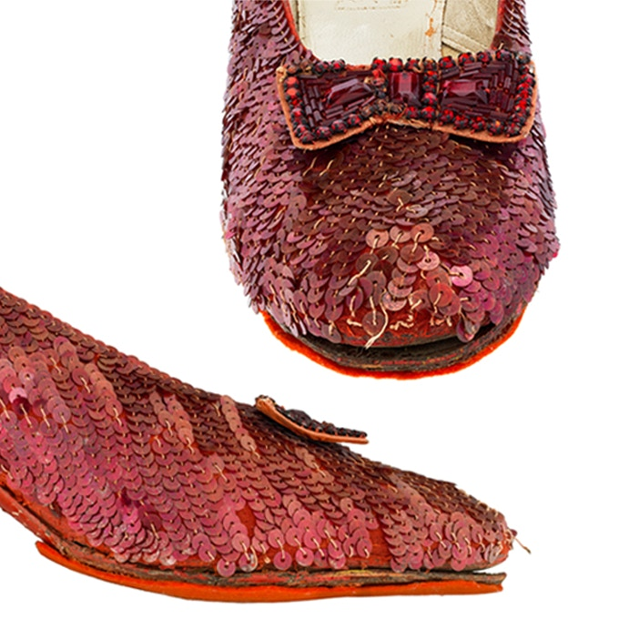 The Coating On Sequins That Give Shoes Their Hallmark Ruby Color Is Flaking Off Its Gelatin Base Some Threads Hold In Place Have