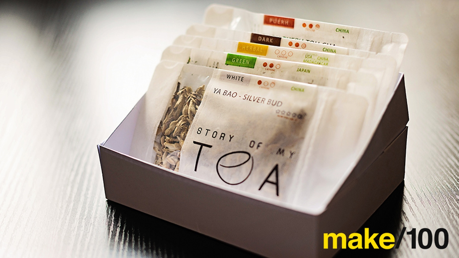 A monthly tea subscription with 60 amazing teas a year, stories of the teas on your smartphone, and an app to record your exploration.