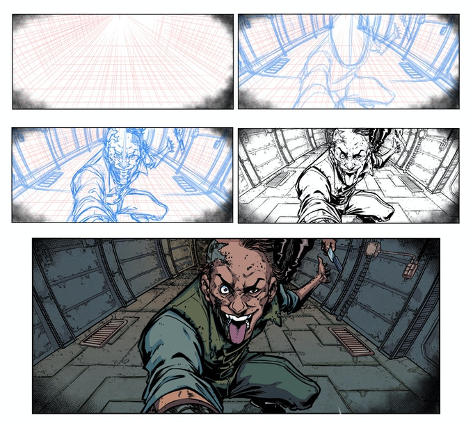Roughs to Pencils to Inks - by Salomon
