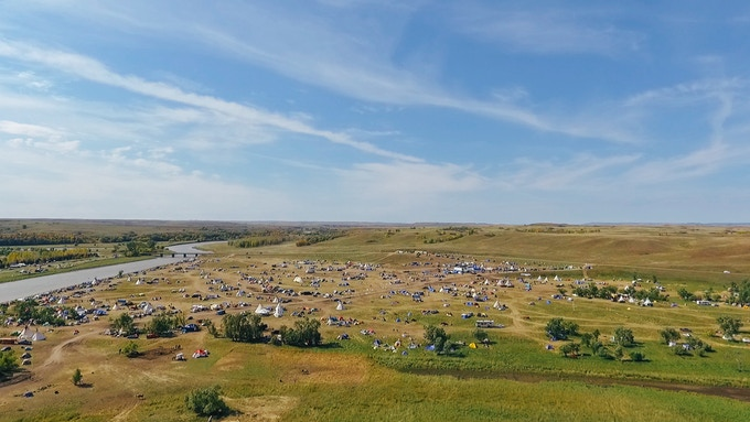 The Resistance Camp at Standing Rock as it appears today.