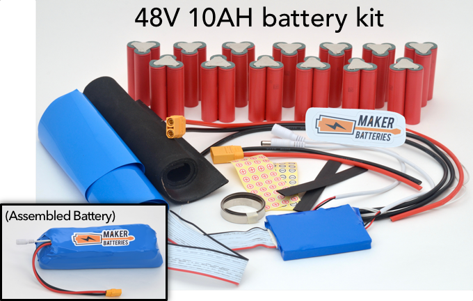 Example of a 48V 10AH Maker Battery kit