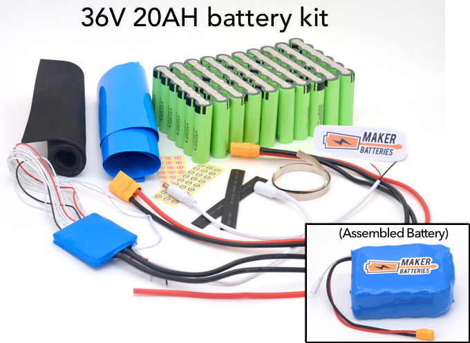 Example of a 36V 20AH Maker Battery kit