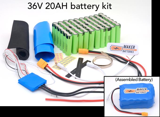 Example of a 36V 20AH Maker Battery kit
