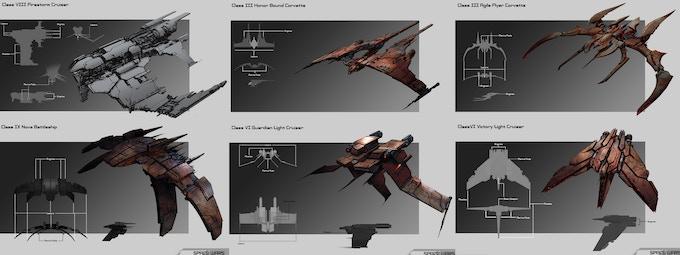 A Sampling of Genari Warships