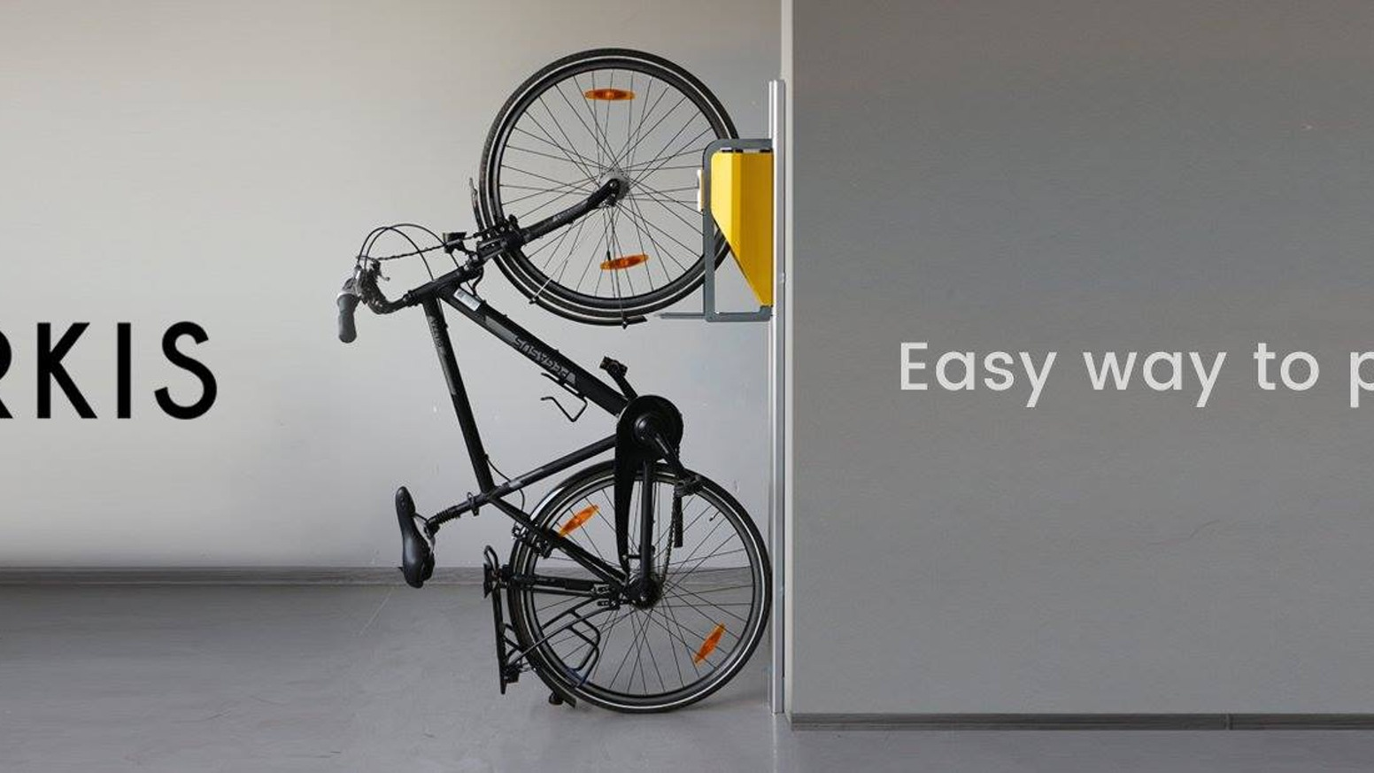 Meet the first in the world effortless vertical bike parking system that lifts your bike for you. It saves space, is easy to use and looks stylish!