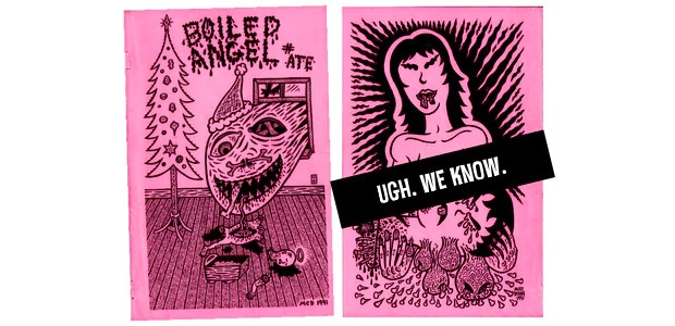 "Boiled Angel ""Ate"" - Front and Back (By Mike Diana)"
