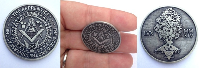 Coin from the 2014 Apprentice campaign