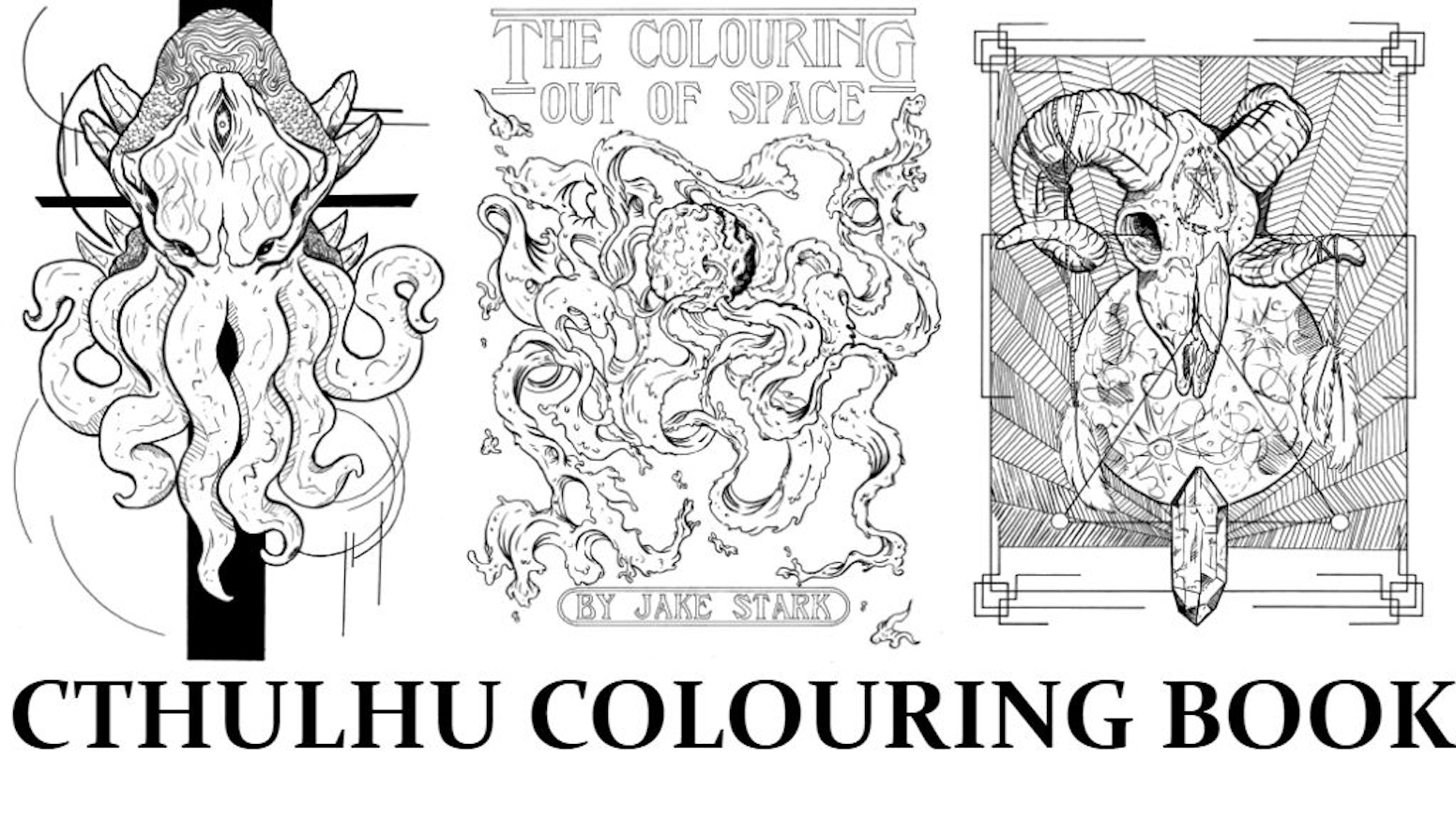 Illustrations inspired by the works of H.P. Lovecraft and the occult perfect for the cultist who wants to colour themselves crazy.