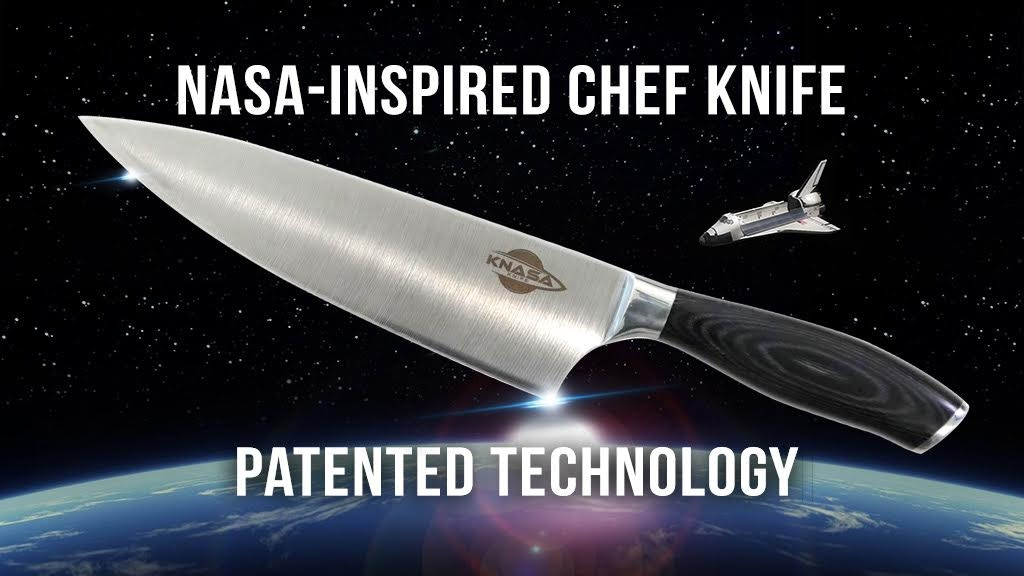 KNASA Chef Knife Inspired by NASA - Patented Technology project video thumbnail