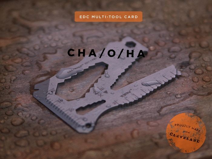 A thoughtfully designed, wallet-sized, multi-tool—made with the highest quality stainless blade steel, CPM S35VN.