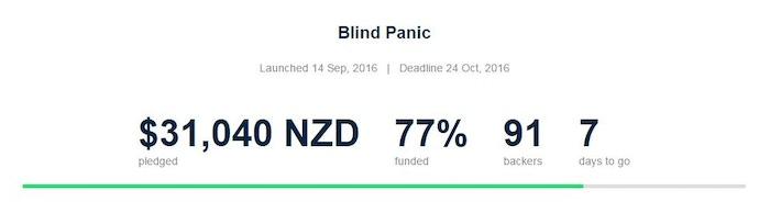 Blind Panic by Matthew Mawkes — Kickstarter