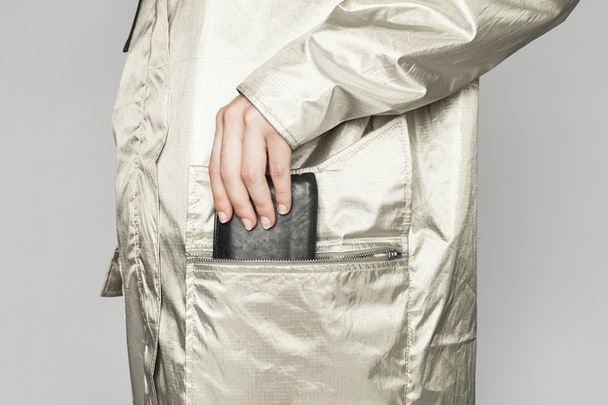 Made of multiple layers of metalliferous fabrics to keep you and your personal data safe.