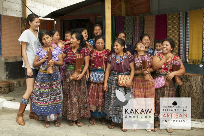 Mari with partner cooperative of weavers at Lake Atitlán