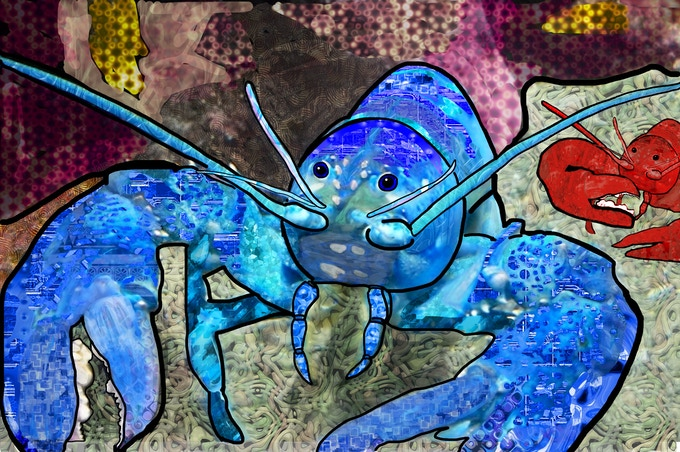 Brilliant Blue Lobster