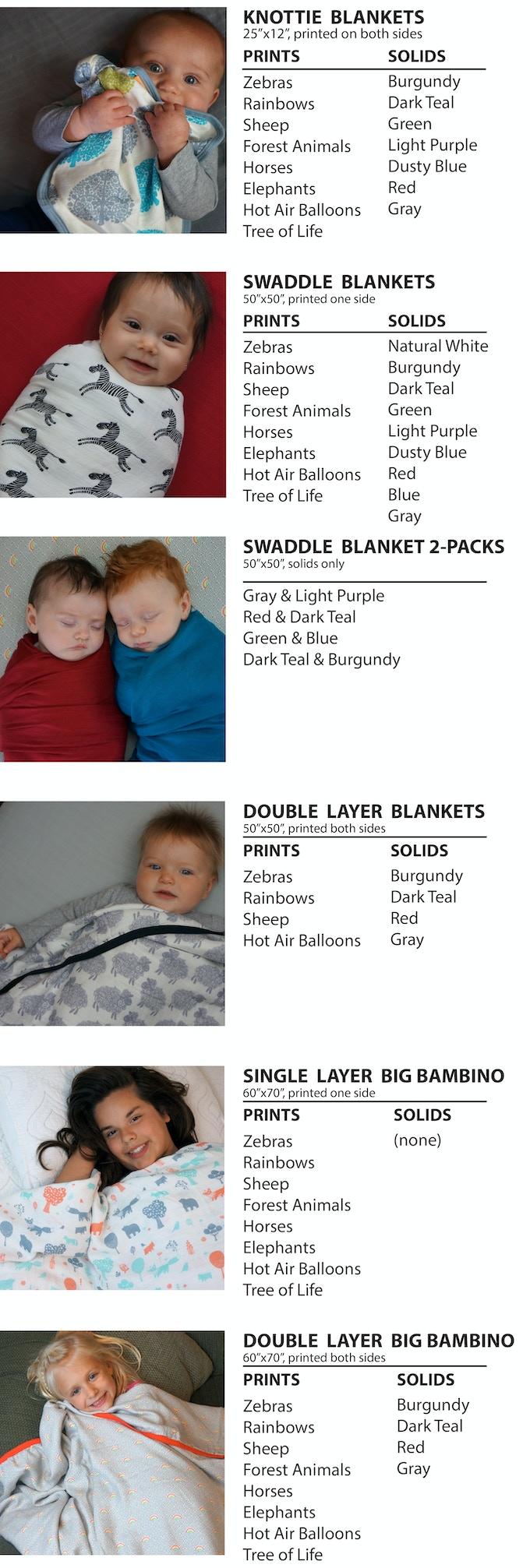 bigger better bamboo blankets by bambino land kickstarter