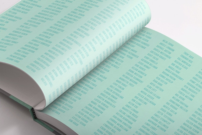 Add your name to the printed walls inside the book!