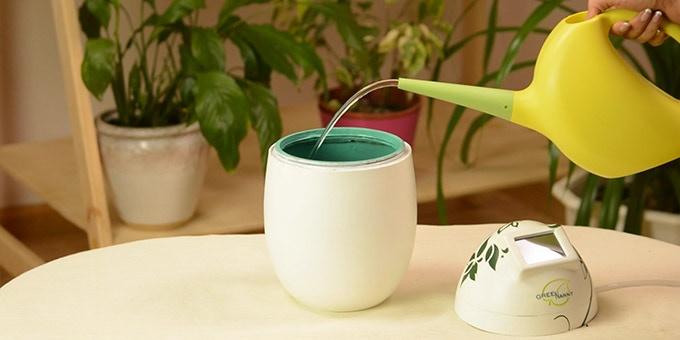 smart watering system for indoor plants
