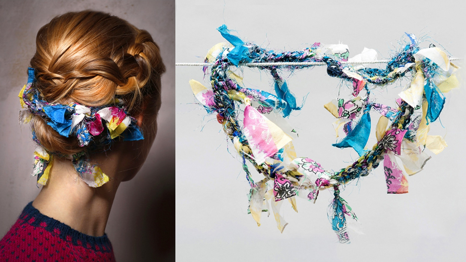 """""""Featherbuns"""" by ANNAMARIAANGELIKA are unique hair accessories, made in Germany from upcycled silk. (DIY instructions also available!)"""