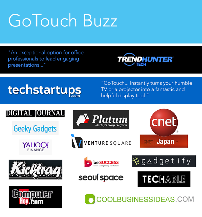 Gotouch make any tv instantly interactive by anyractive kickstarter journalists and bloggers access the gotouch press kit solutioingenieria Image collections