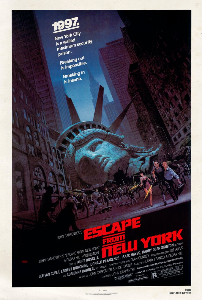 The original Escape From New York movie poster.