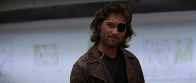 Kurt Russell as Snake Plissken.