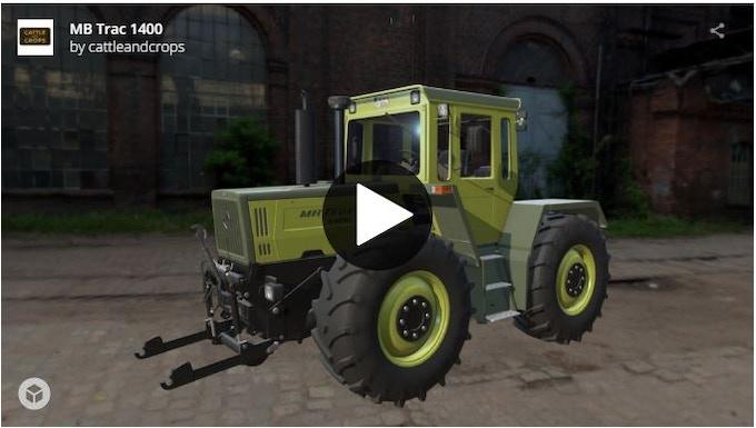 MB Trac 1400 3D model
