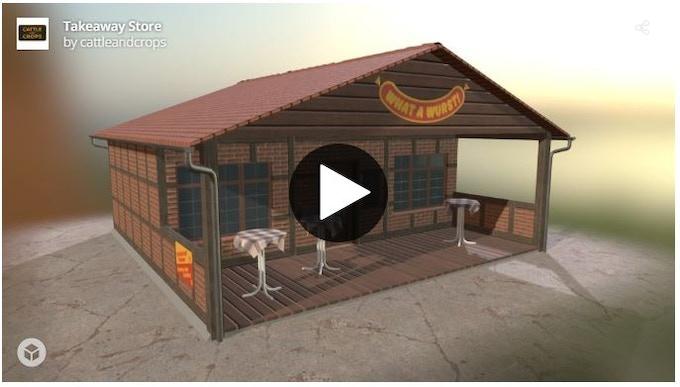 Takeaway Store 3d model