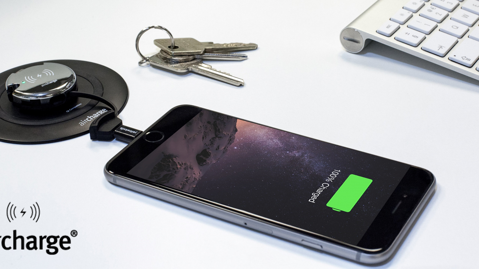 With the all-new portable and versatile Keyring you can wirelessly charge any smartphone and portable tech gadget, at home or on the go