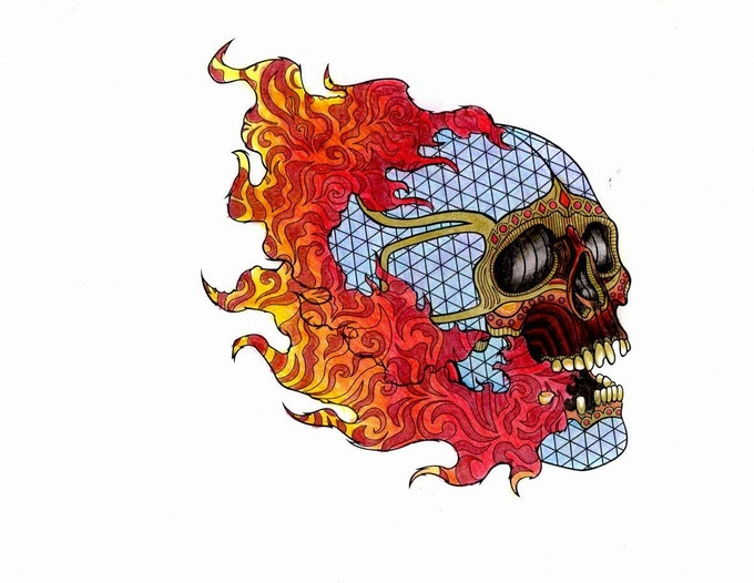 After: Flaming Skull
