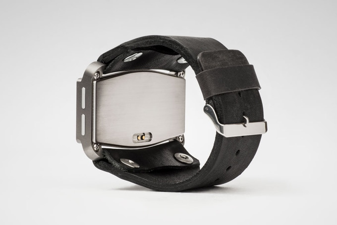 USPF Edition with black leather strap and silver accents.