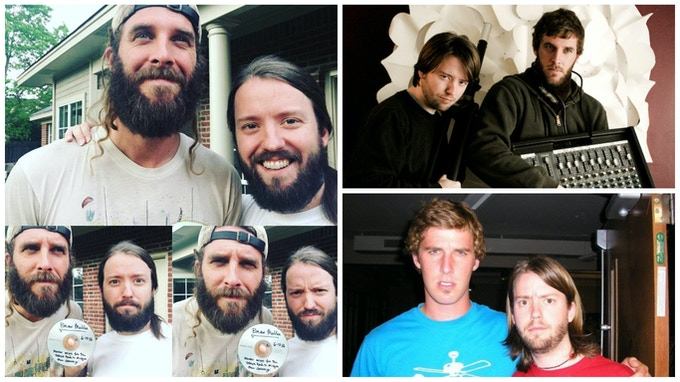 Matthew and I over the years: 2016 (after recording the bulk of the album at his home studio in Madison, MS), 2008 (after playing a house concert together in Holland, MI), and 2005 (where we met in Memphis, TN, working at a summer camp)