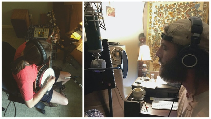 Matthew tracking banjo / Me tracking vocals