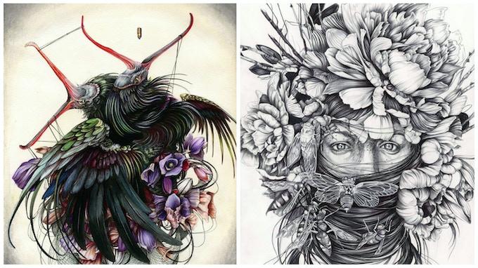 "Details of ""Brilliance"" and ""Hush"" by Christina Mrozik"