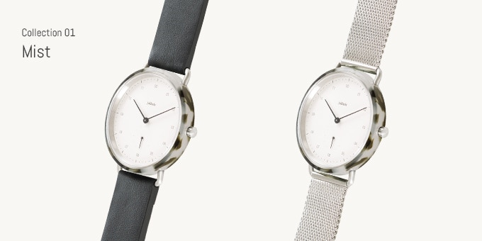 Choose between Mist with leather strap or Mist with Milanese strap.