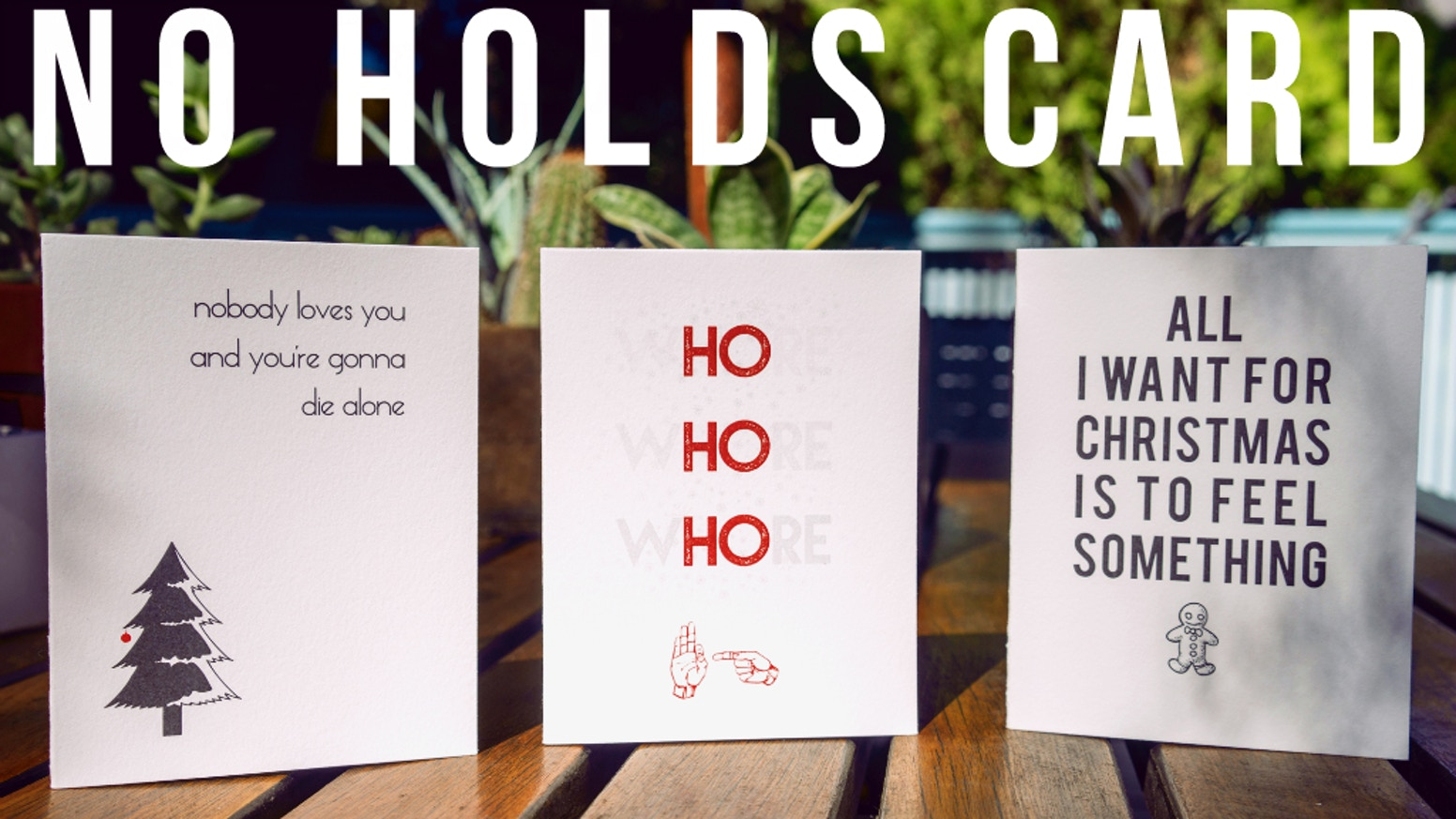 No holds card greetings from assholes by ashley nathan kickstarter crude greeting cards made lovingly for the douchebag in all of usank you to kristyandbryce Gallery