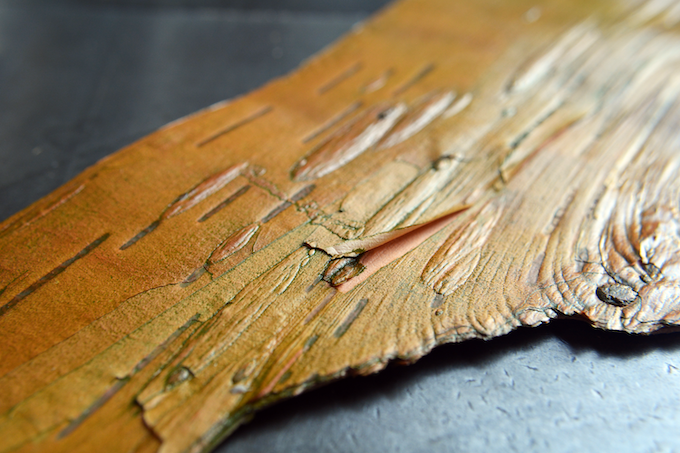 Birch Bark collected from my Long Trail excursion, used for texure in the Jotter Notebook reward